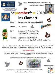 190613 JUMELAGE Septemberfest 2019